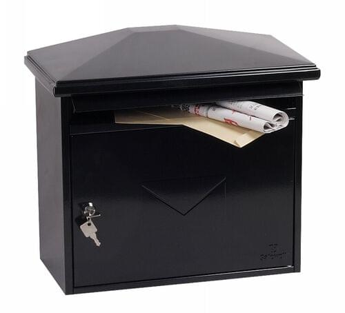 Phoenix Libro Front Loading Mail Box MB0115KB in Black with Key Lock by Phoenix, PSMB0115KB