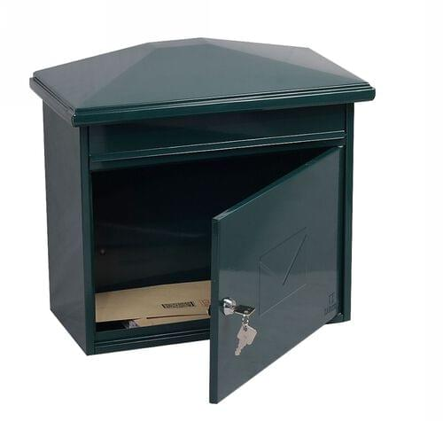 Phoenix Libro Front Loading Mail box MB0115KG in Green with Key Lock by Phoenix, PSMB0115KG