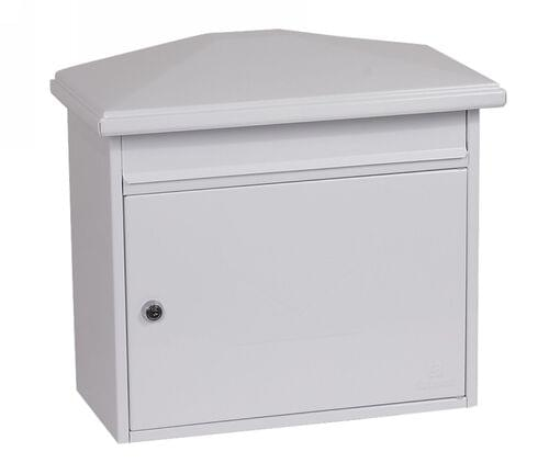 Phoenix Libro Front Loading Mail Box MB0115KW in White with Key Lock by Phoenix, PSMB0115KW