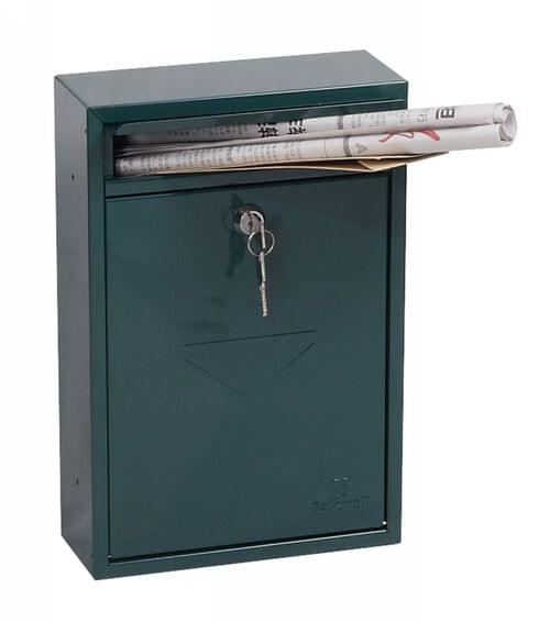 Phoenix Letra Front Loading Mail Box MB0116KG in Green with Key Lock by Phoenix, PSMB0116KG