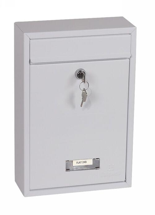 Phoenix Letra Front Loading Mail Box MB0116KW in White with Key Lock by Phoenix, PSMB0116KW