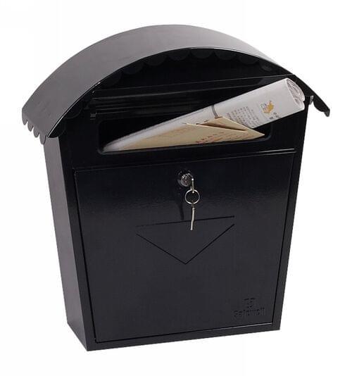 Phoenix Clasico Front Loading Mail Box MB0117KB in Black with Key Lock by Phoenix, PSMB0117KB