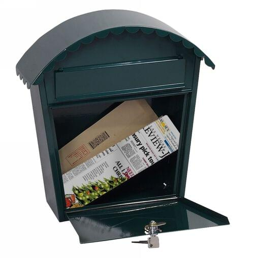 Phoenix Clasico Front Loading Mail Box MB0117KG in Green with Key Lock by Phoenix, PSMB0117KG