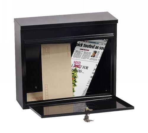 Phoenix Correo Front Loading Mail Box MB0118KB in Black with Key Lock by Phoenix, PSMB0118KB