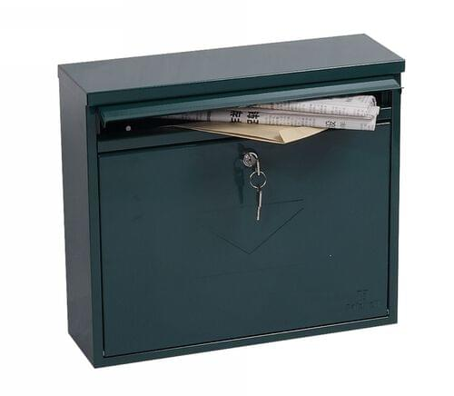 Phoenix Correo Front Loading Mail Box MB0118KG in Green with Key Lock by Phoenix, PSMB0118KG