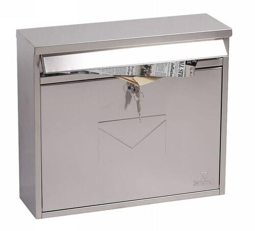 Phoenix Correo Front Loading Mail Box MB0118KS in Stainless Steel with Key Lock by Phoenix, PSMB0118KS