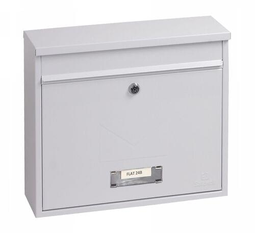 Phoenix Correo Front Loading Mail Box MB0118KW in White with Key Lock by Phoenix, PSMB0118KW