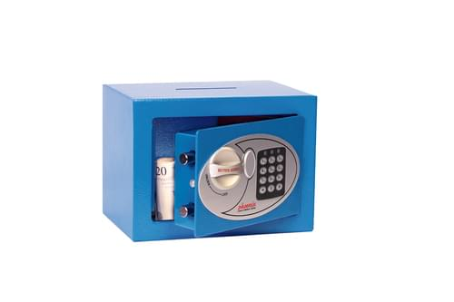Phoenix Compact Home Office SS0721EBD Blue Security Safe with Electronic Lock & Deposit Slot by Phoenix, PSSS0721EBD