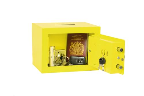 Phoenix Compact Home Office SS0721EYD Yellow Security Safe with Electronic Lock & Deposit Slot by Phoenix, PSSS0721EYD