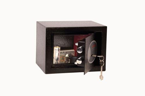 Phoenix Compact Home Office SS0721K Black Security Safe with Key Lock by Phoenix, PSSS0721K
