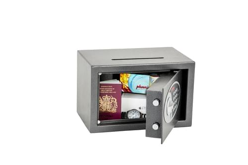 Phoenix Vela Deposit Home & Office SS0801ED Size 1 Security Safe with Electronic Lock by Phoenix, PSSS0801ED