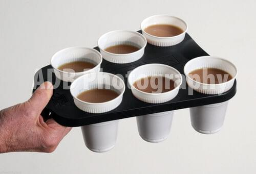 Office-5-Star 1 Plastic Vending Cup Holder Tray To Carry 6 HotCold Drinks CoffeeTea by 5 Star Office, TRA005