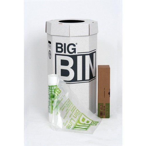 Acorn Big Bin Large Strong Eco Recycling Cardboard BIG Bins 160 Litre (Pack of 5) 142958