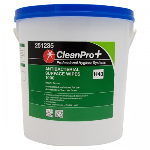 Antibacterial Cleaning Surface Wet Wipes Large Bulk Buy Tub of 1000 Office & Home Use
