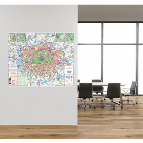 2021 London Wall Map of Low | Ultra Low Emission Zones LEZ ULEZ for Business Taxi Delivering by Office Star Group, MAP030