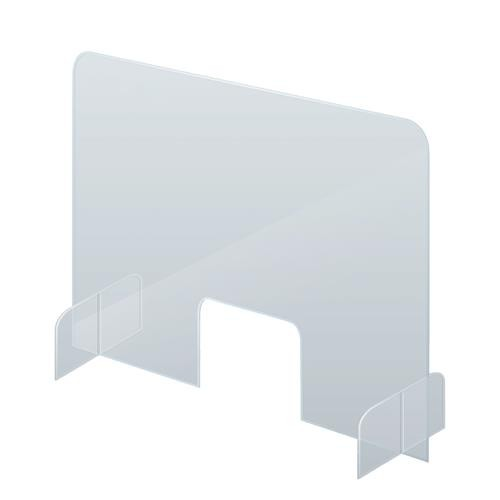 Counter Top Clear Protective Partition Screens 85 x 67cm Offices -Reception Desks - Office Desks - Shops -Petrol Stations