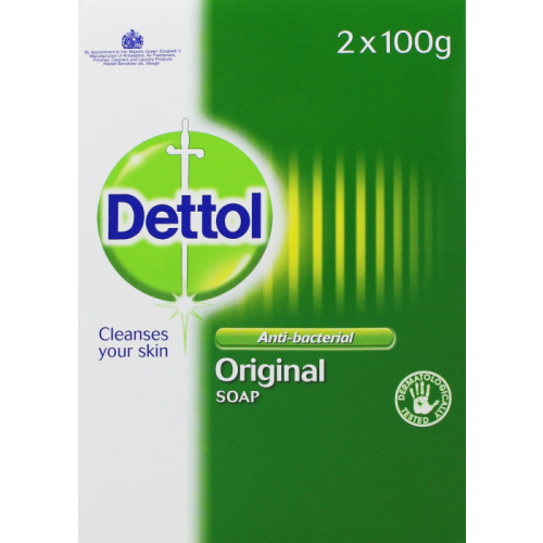 Dettol Antibacterial Hand Wash Soap Bars 2 x 100g (Twinpack) by , SOAP250
