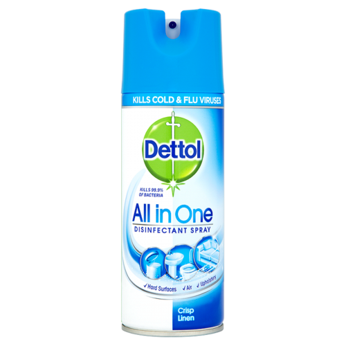 Dettol All in One Antibacterial Disinfectant Spray Crisp Linen 400ml Bulk Wholesale or Singles Buy Online