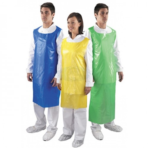 Disposable White Plastic Aprons Premium on a Roll 200 by 5 Star Office, APRON2