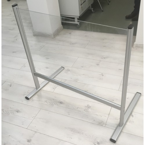 Social Distancing Screen 60 x 65 Free-Standing Clear Acrylic for Reception Desks-Office-Shops-Restaurants by , SCREEN302