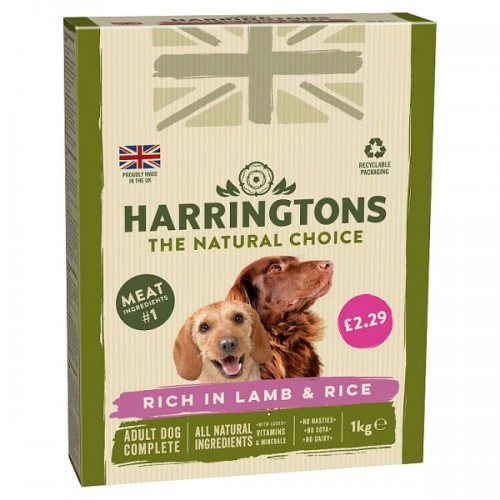 FOOD BANK DONATION ITEM - This will be delivered to the Forest Foodbank - Harringtons Lamb & Rice Adult Dry Dog Food x 1kg
