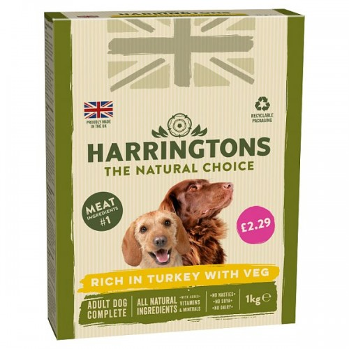FOOD BANK DONATION ITEM - This will be delivered to the Forest Foodbank - Harringtons Turkey & Veg Adult Dry Dog Food x 1kg