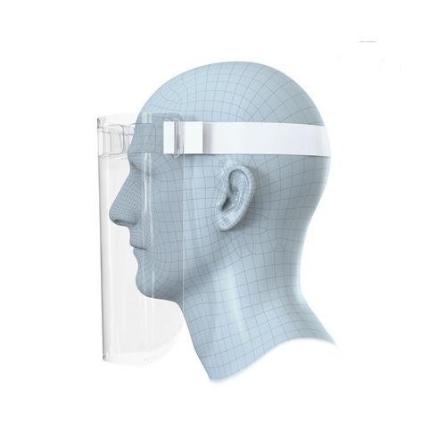 10 x Clear Reusable Full Face Visor Shield Splash Guard Mask Bulk Pack by Exacompta, VISORS100X10