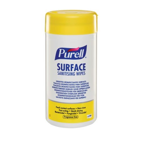 Purell Surface Sanitising AntiBacterial/Virus Cleaning Wet Wipes x 12 Tubs of 100 BULK Wholesale for Business
