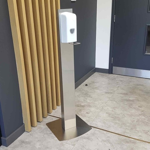 Hand Sanitiser Dispenser on a Stand - Free Standing Station - for Reception Areas and Offices by 5 Star Office, STAND500