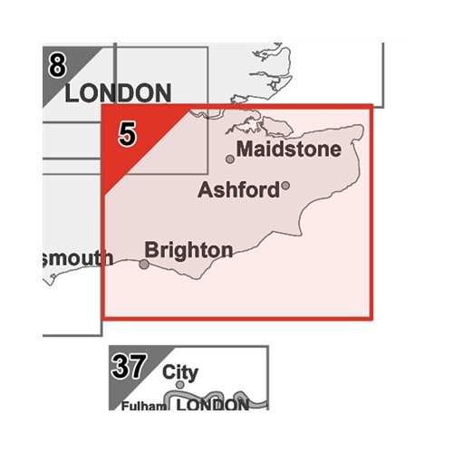 Postcode Laminated Large Wall Map of Kent East Sussex Canterbury Dover Maidstone S5 by Office Star Group, MAP005