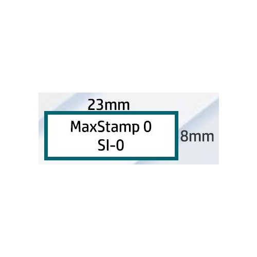 Maxum 0 Self Inking Stamp 23x6mm by , MAX000