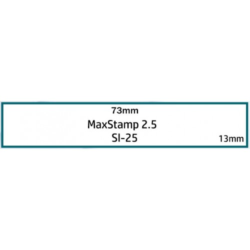Maxum 2.5 Self Inking Stamp 73x13mm by , MAX025