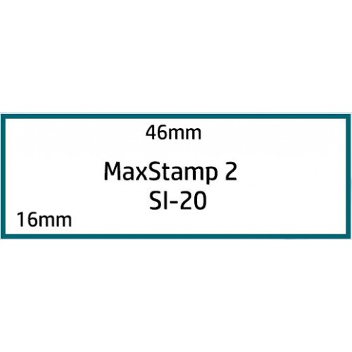 Maxum 2 Self Inking Stamp 46x16mm by , MAX020