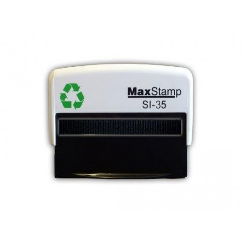Maxum 3.5 Self Inking Stamp 67x27mm by , MAX035