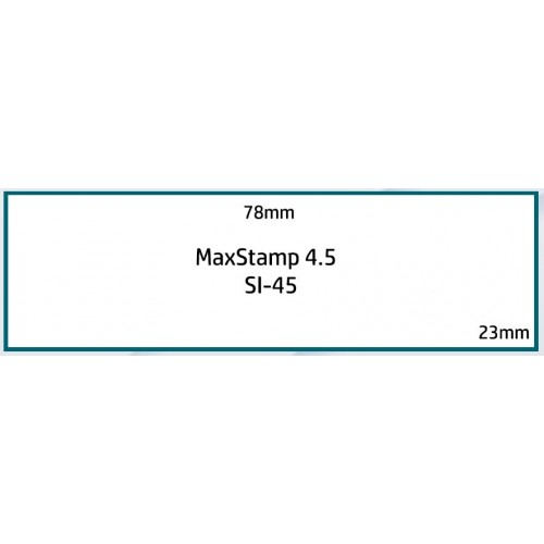 Maxum 4.5 Self Inking Stamp 78x23mm by , MAX045