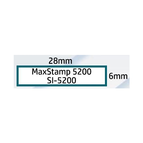 Maxum 5200 Self Inking Stamp 28x6mm by , MAX5200