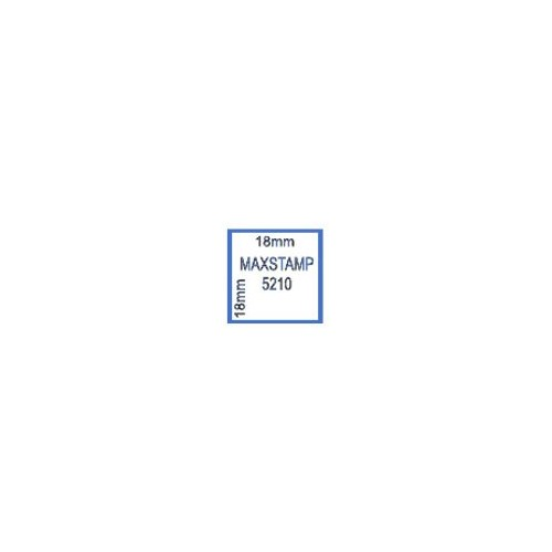 Maxum 5210 Self Inking Square Stamp 18mm by , MAX5210