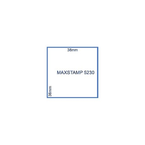 Maxum 5230 Self Inking Square Stamp 38mm by , MAX5230