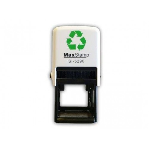 Maxum 5290 Self Inking Square Stamp 34mm by , MAX5290