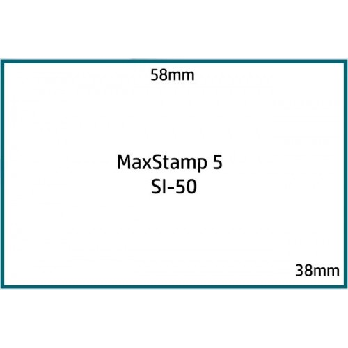Maxum 5 Self Inking Stamp 58x38mm by , MAX050