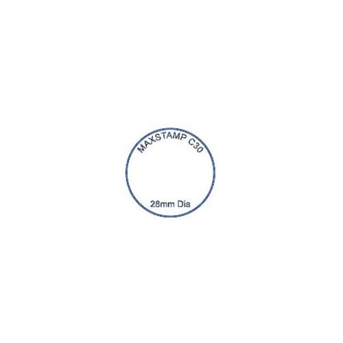 Maxum C30 Round Self Inking Stamp 28mm Diameter by , MAXC30