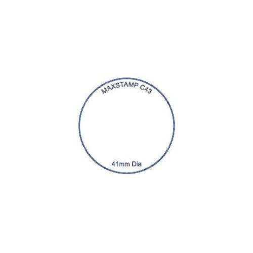 Maxum C43 Round Self Inking Stamp 41mm Diameter by , MAXC43