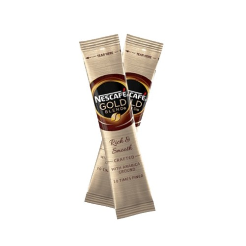 Nescafe Gold Blend One Cup Sticks Instant Coffee Sachets for Meetings and Kitchen Hygiene (Pack of 200)