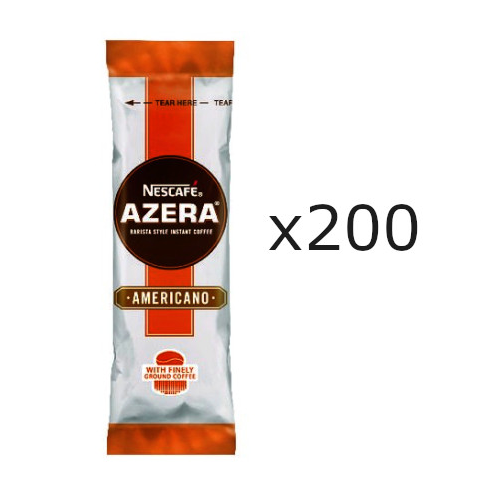 Nescafe Azera Instant One Cup Americano Sachet Coffee Sticks for Meetings & Kitchen Hygiene (Pack of 200) NL07791