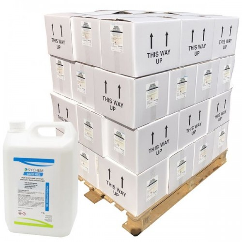 Pallet of Hand Sanitiser Gel Antibacterial 70% Alcohol 40x 5 Litre Refill Bottle