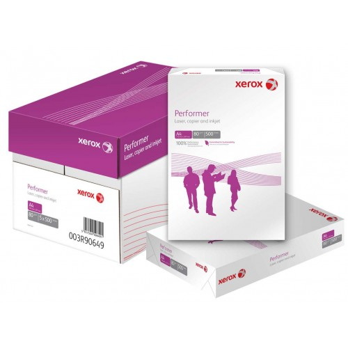 A4 80Gsm Copier Laser & Inkjet Printing Plain Paper Xerox Performer White 5 Reams 003R90569