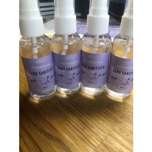 4 x Hand Sanitiser Liquid in 50ml Spray Bottles 71% Alcohol Antibacterial- FREE DELIVERY