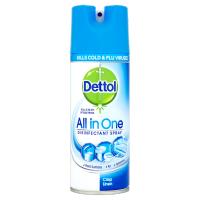 Dettol All in One Antibacterial Disinfectant Spray Crisp Linen 400ml Bulk or Singles