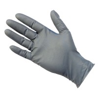 Strong Grey Nitrile Disposable UltraGrip Gloves Latex-Free and Powder-Free LARGE