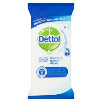 Dettol Antibacterial Cleaning Wet Wipes for Surfaces - Large - Pack of 30 - Bulk Buy or Singles